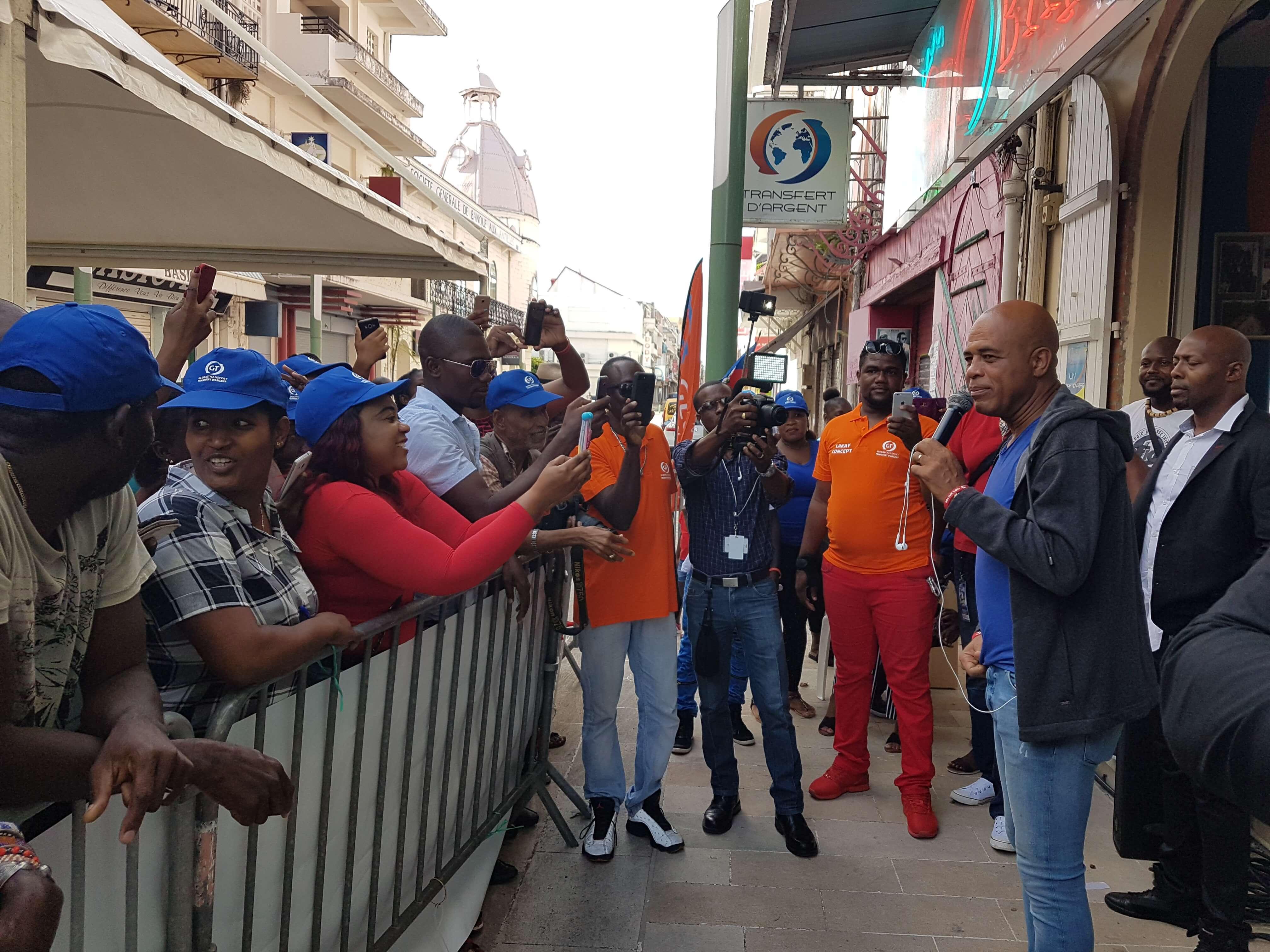 Visite de l'ancien Président d'Haïti : Michel MARTELLY à Global Transfert !