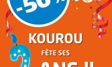 2 ANS DE KOUROU | -50% sur votre transfert d'argent !